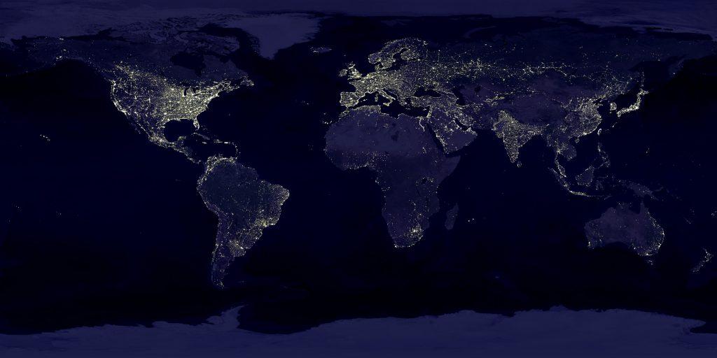 Resultado de imagen de continents and oceans from space at night